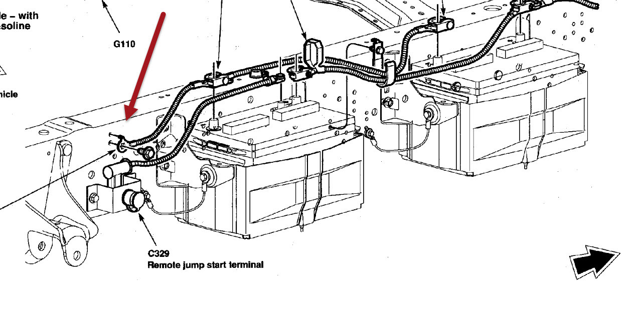 2004 ford e350 battery location
