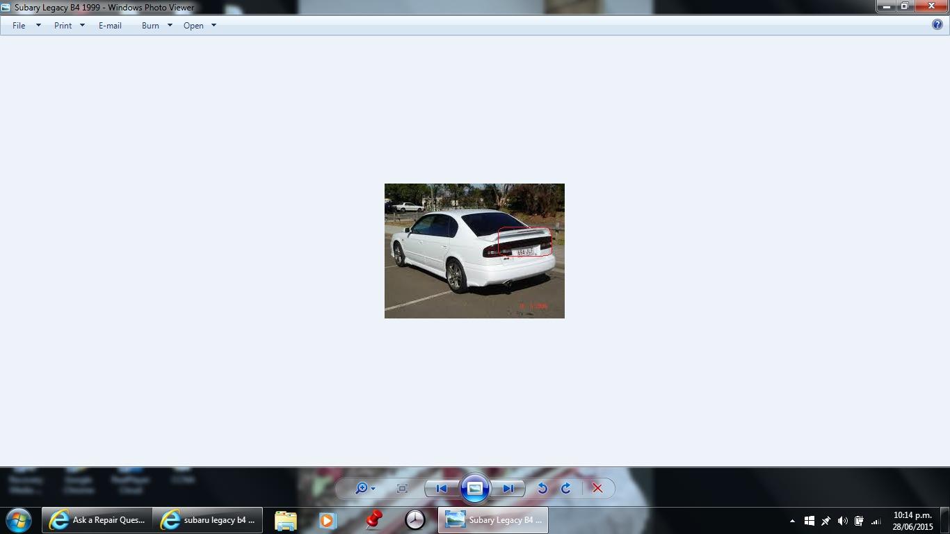 Trunk Brake Lights Spoiler Not Working Subaru Legacy B4 Wiring Diagram Thumb
