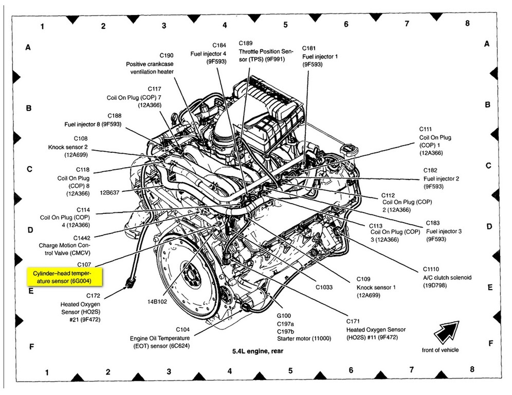 Original on 1999 Ford F 150 Engine Sensor Locations