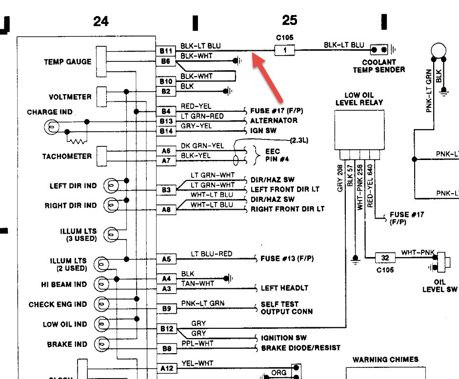 original 1990 ford ranger instrument cluster plug i was needing a diagram 1990 ford ranger wiring diagram at edmiracle.co