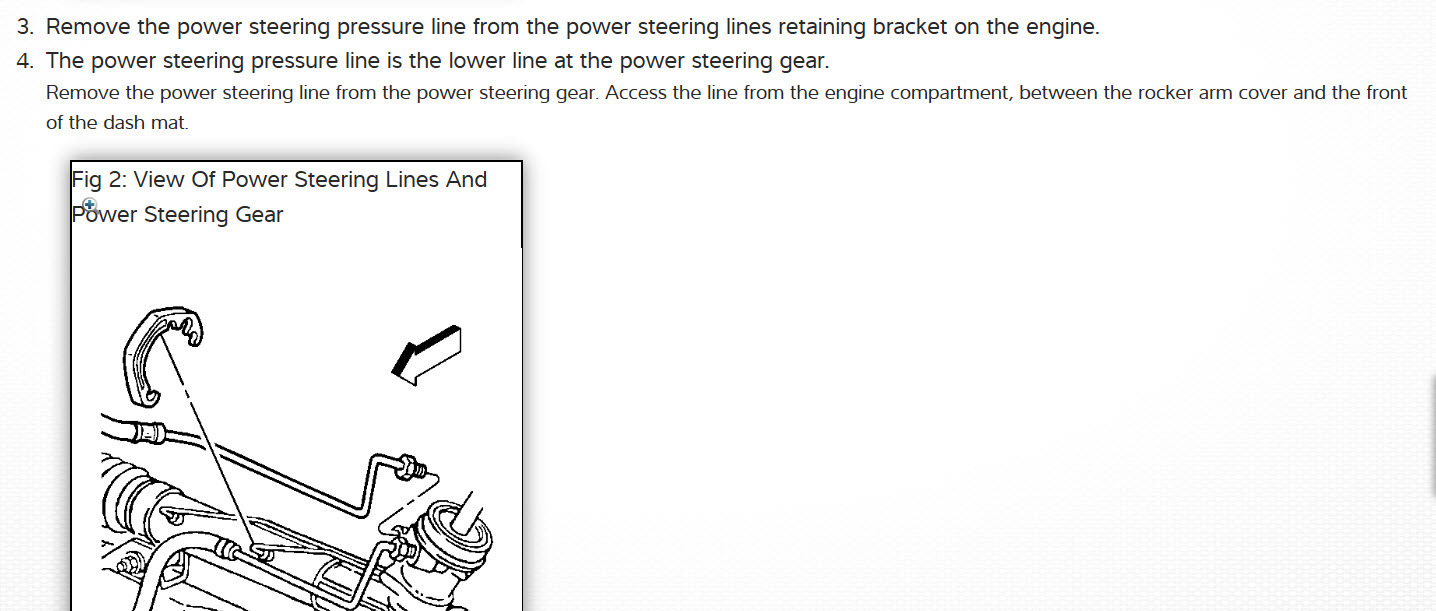 High Pressure Power Steering Line Me And My Father Have Been 1999 Chevy Malibu Problem Thumb