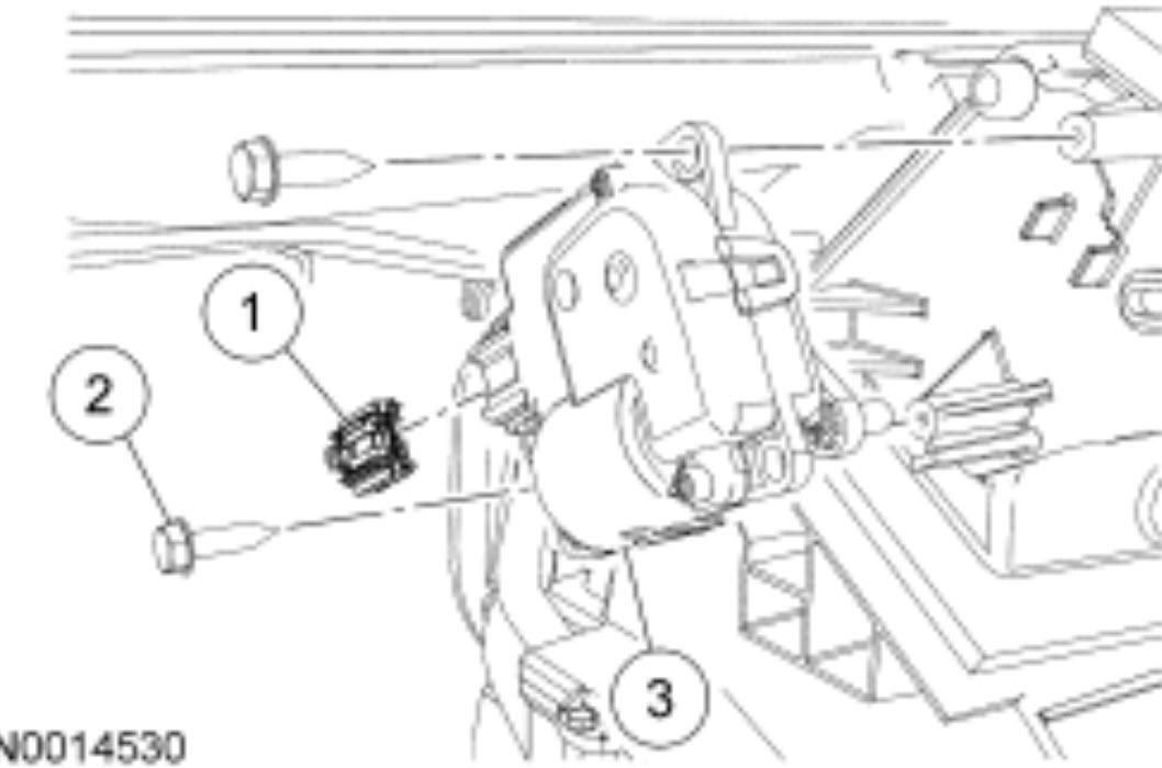 2007 Mustang Blend Door Actuator Diagram