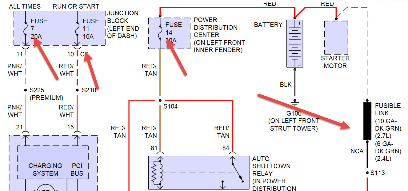 2005 Dodge Stratus Fuse Box Under Hood Manual Of Wiring Diagram Exciting 2004 Sedan Sxt Images