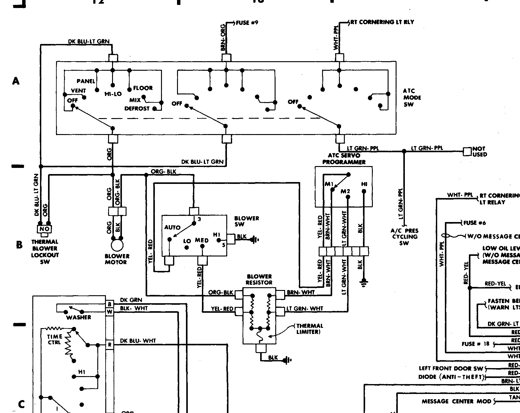 blower motor resistor wiring diagram 1988 lincoln town car resistor connector i changed the a c blower  1988 lincoln town car resistor