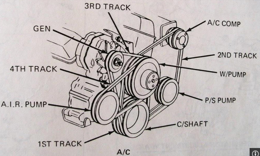 1983 chevy 454 engine belt diagram serpentine belt routing