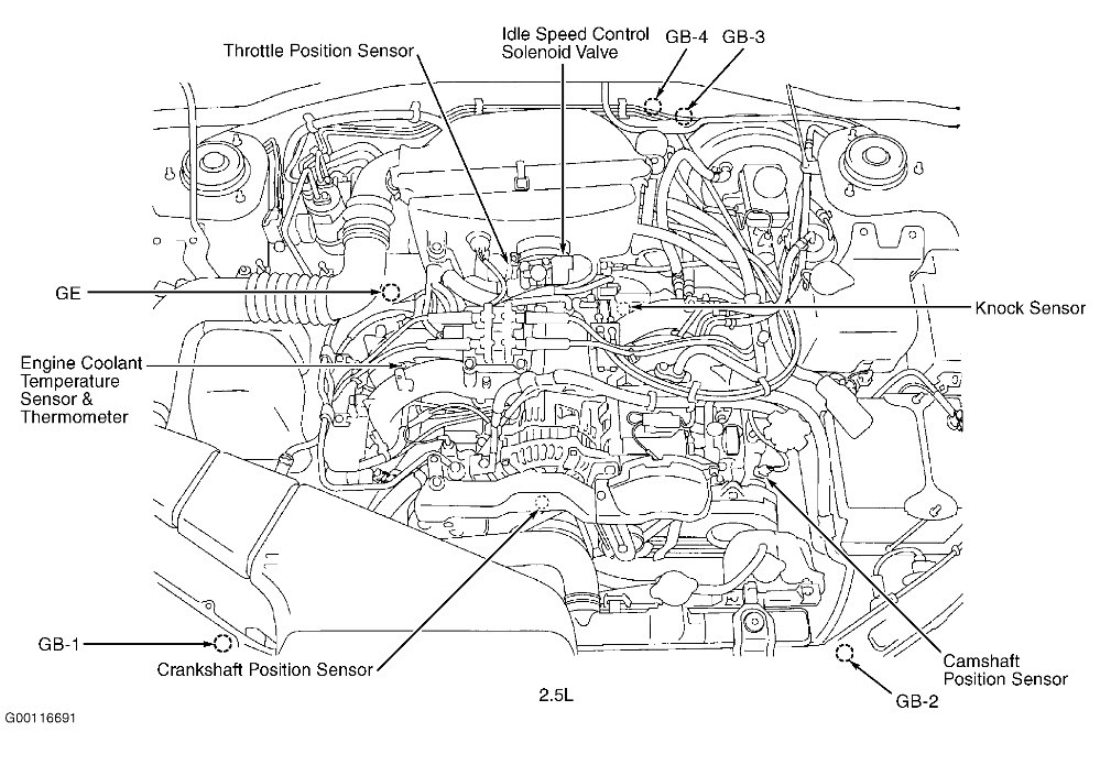subaru legacy b4 engine diagram