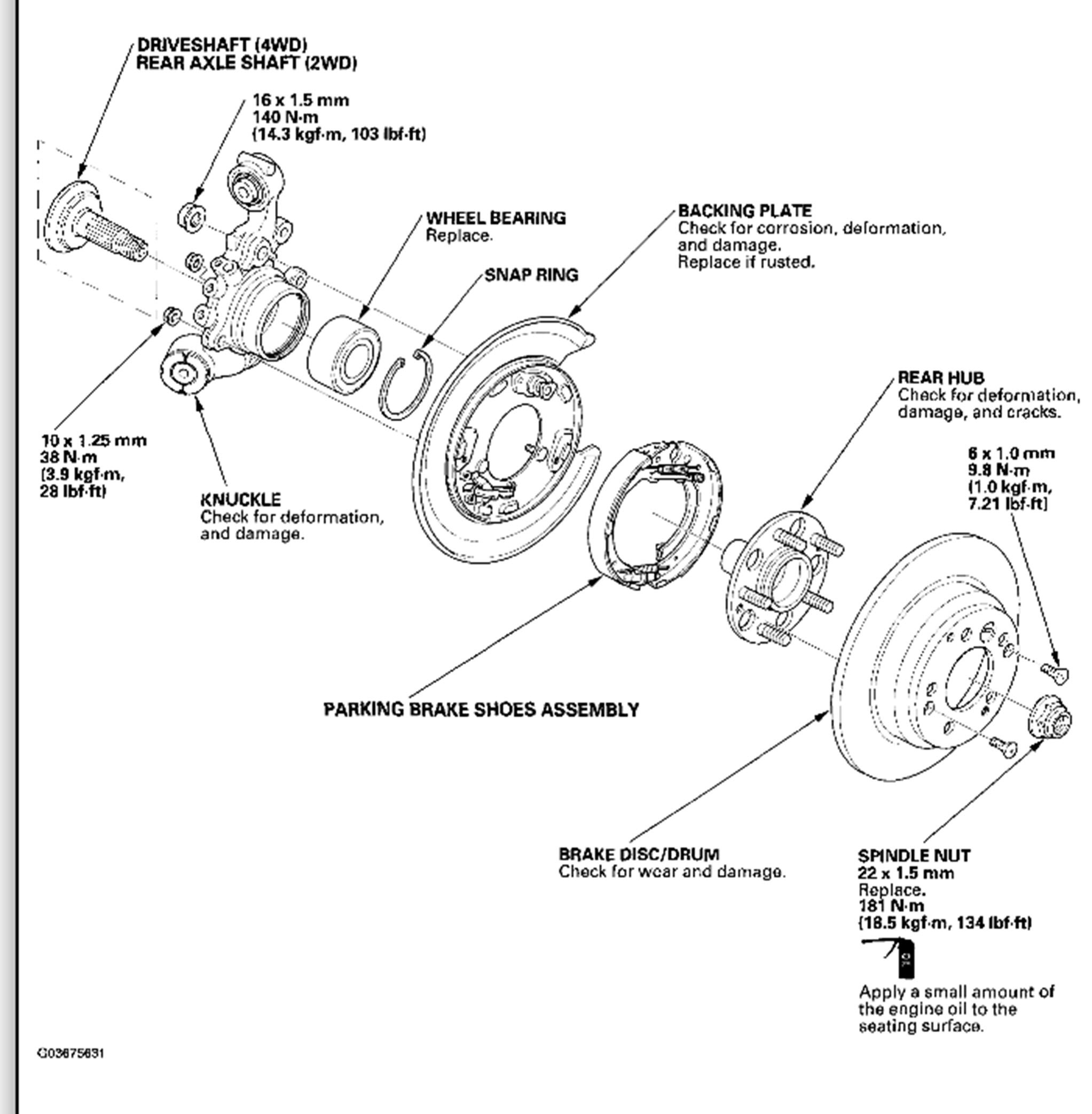 1998 honda cr v rear suspension diagram