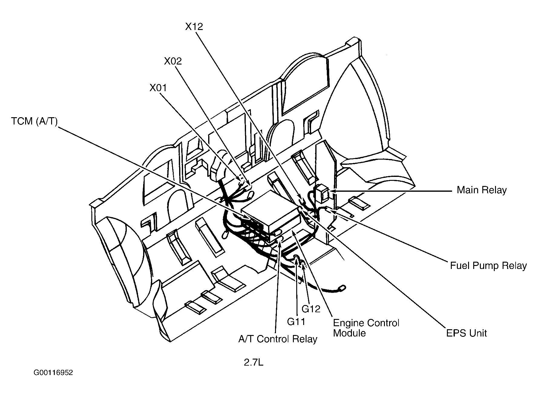 2003 kia sorento airbag diagram