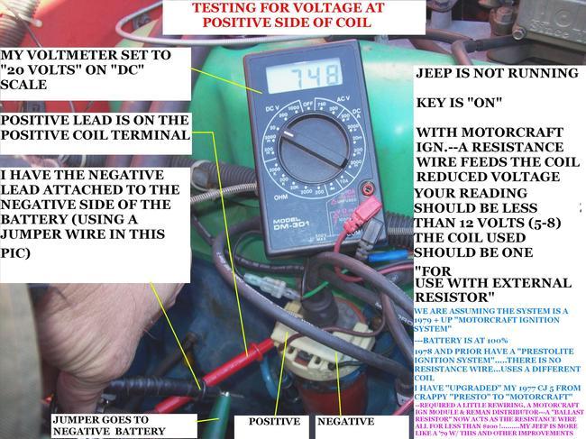 1978 Jeep Cj5 Ignition Problems  I Have A 258 4 2l  U0026 39 78 Cj5
