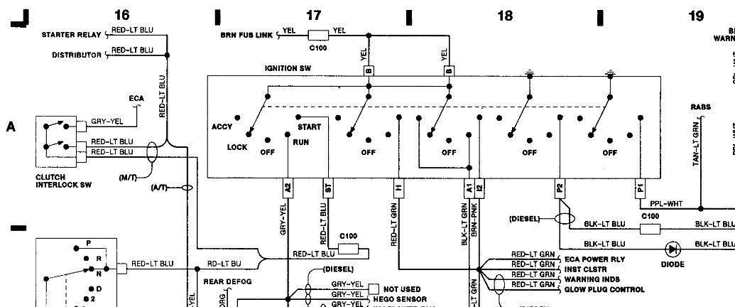 1989 Ford F350 No Ingition Switch Power  Electrical
