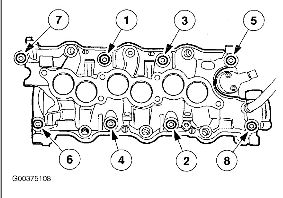 Need Torque Specs 2000 Mercury Sable I Have To Replace The Head
