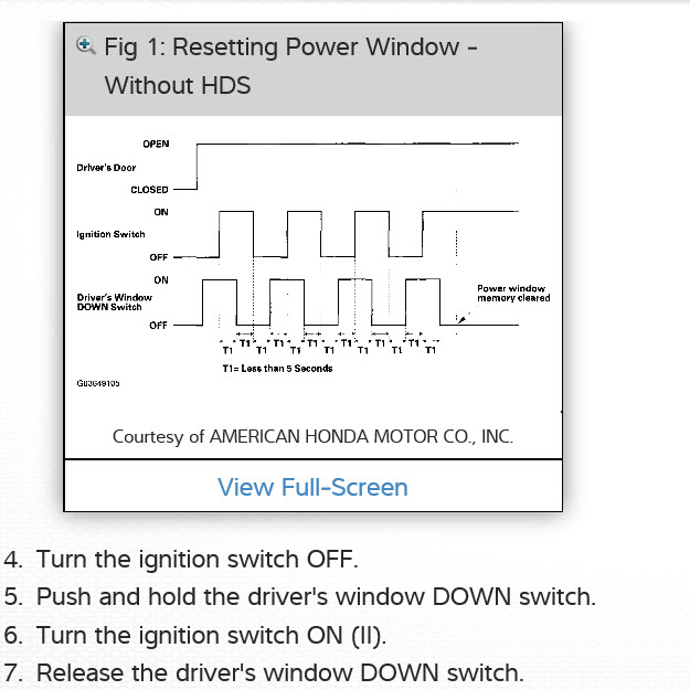 Power Windows Not Working Electrical Problem 4 Cyl Two Wheel