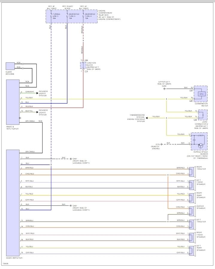 Radio Wiring Diagram 2003 Mitsubishi Galant WIRING CENTER