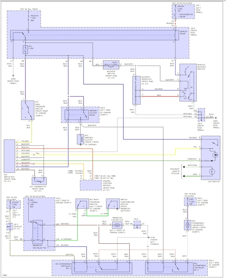 wiring diagram of ac amplifier do the 1 6l and 1 8l have the same