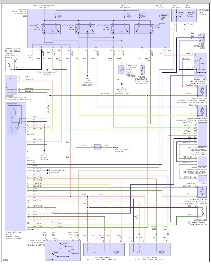 original 2005 kia spectra a c not working air conditioning problem 2005 Kia Electrical Wiring Diagram at gsmx.co