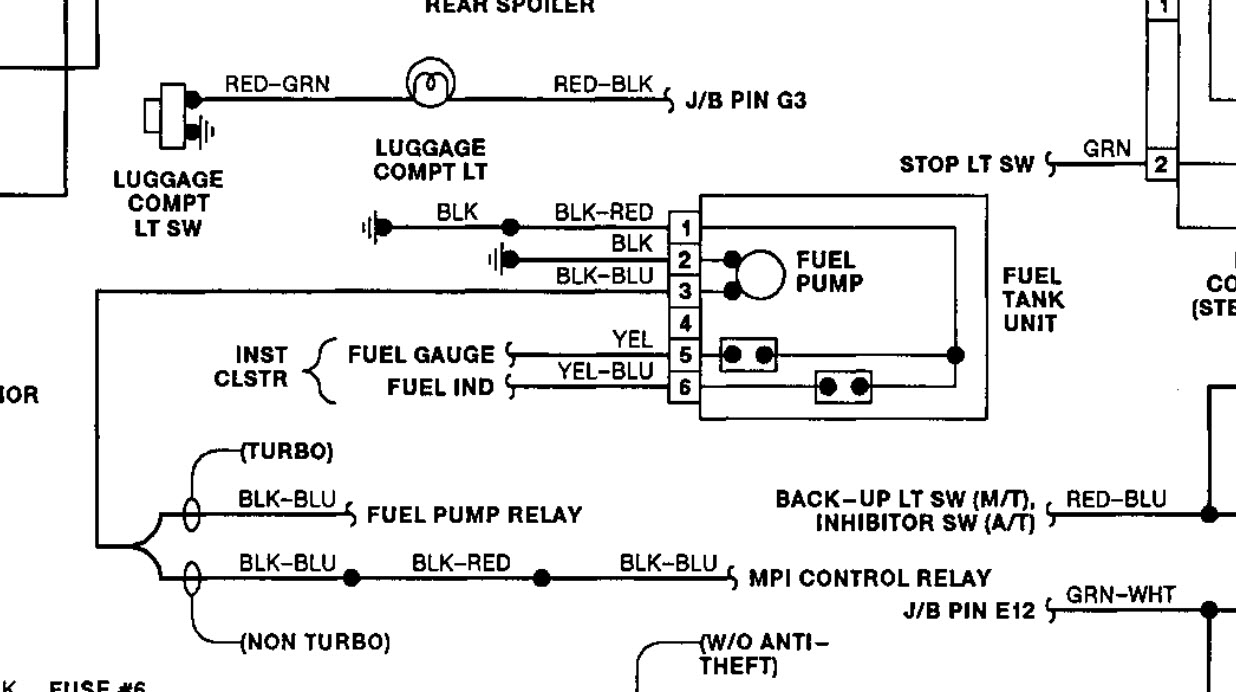 Wiring Diagram For In Tank Fuel Pump