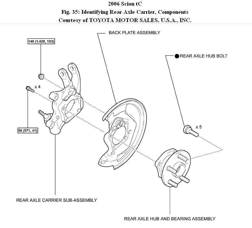 2006 scion tc rear wheel bearing  how to replece rear