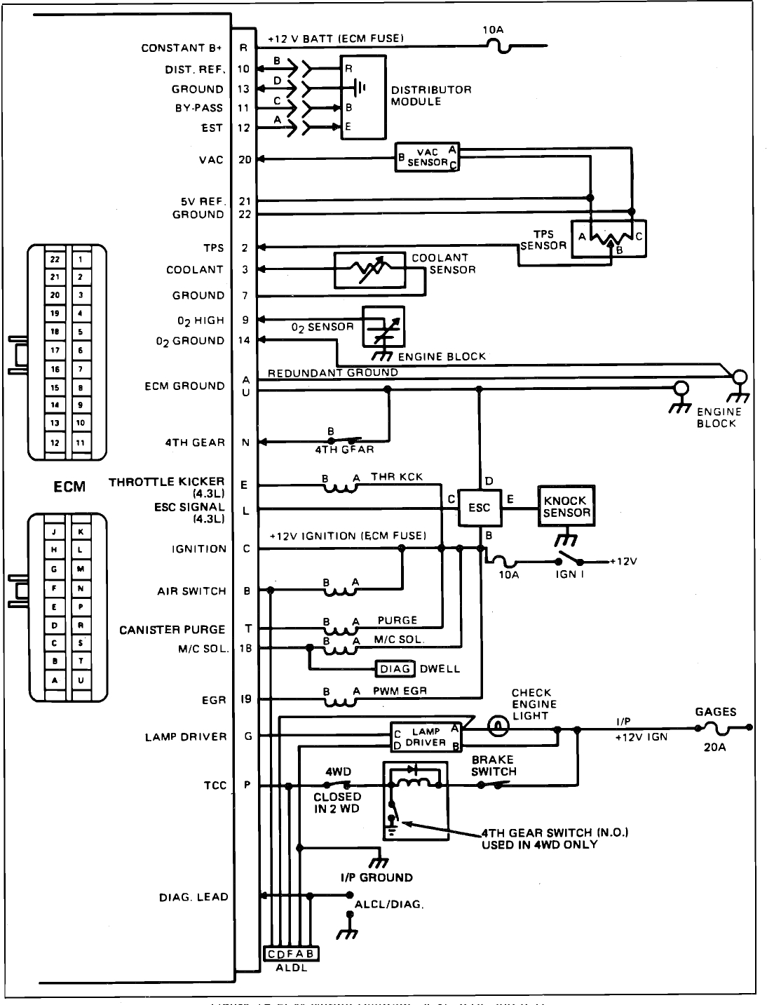 original i need a fuse box diagram with wiring colors 1984 Chevy K-Series Fuse Box at bakdesigns.co