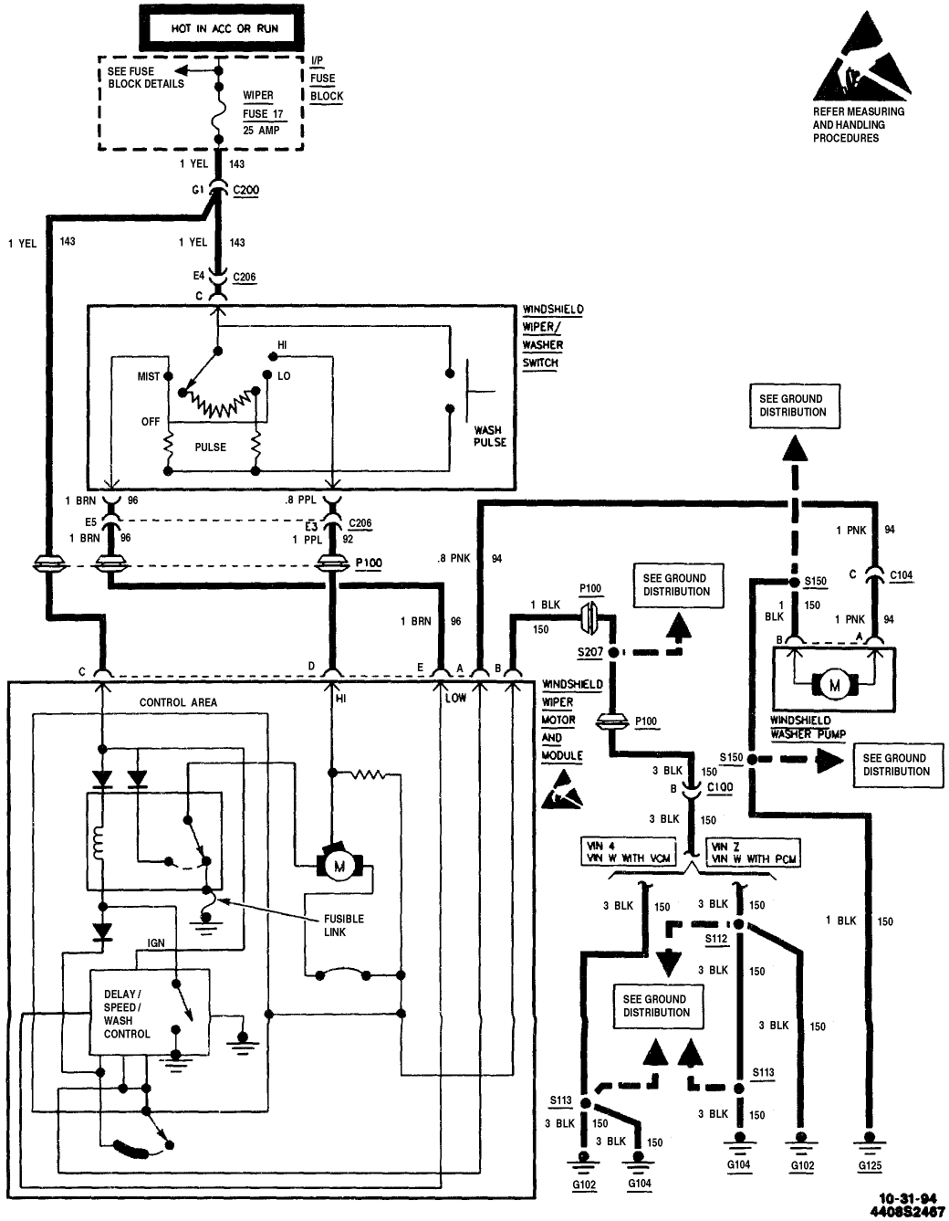 wiper motor wiring diagram  i need to know the schematic