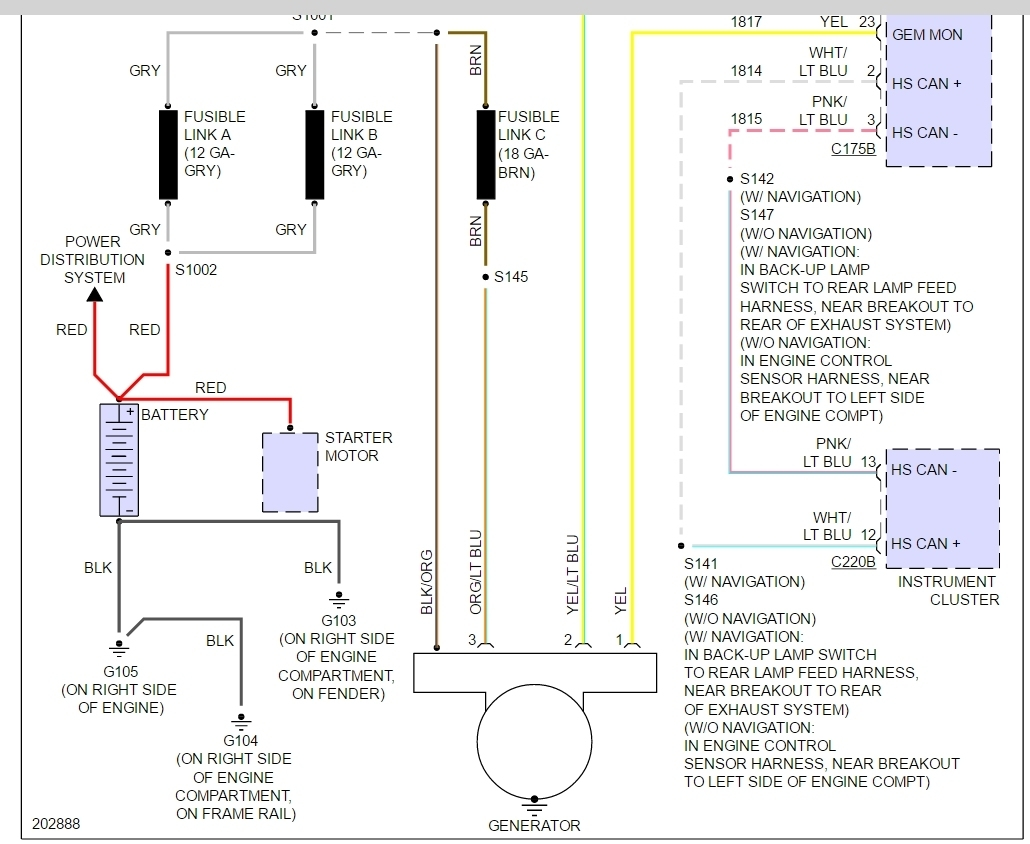 2004 here is the wiring diagram of the charging system in 2003 2004