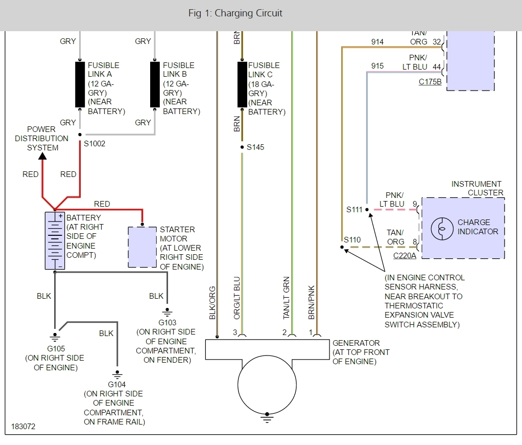 2004 f150 charging system wiring diagram trusted wiring diagram Ford 4 6 DOHC Engine Diagram check charging system light somebody else asked this question ford 4 6 ltr engine diagram 2004 f150 charging system wiring diagram