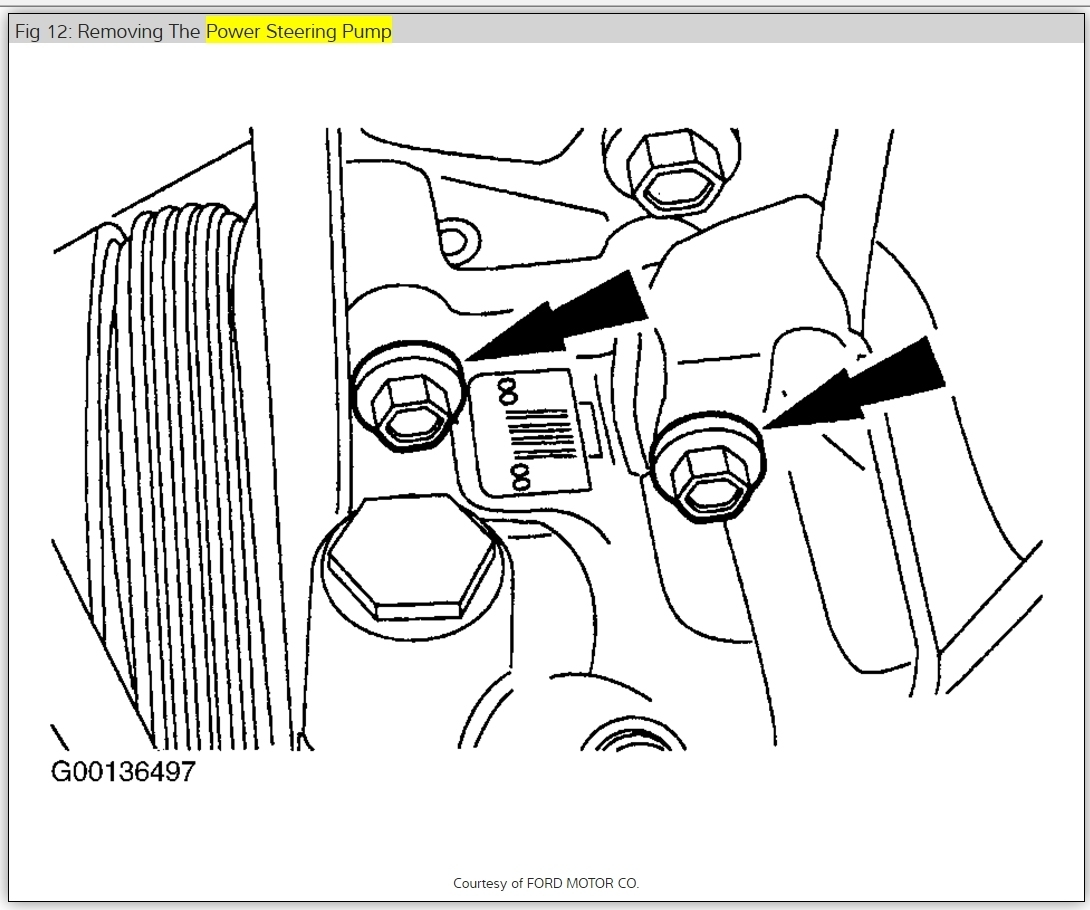 removal of power steering pump  how do i remove power steering