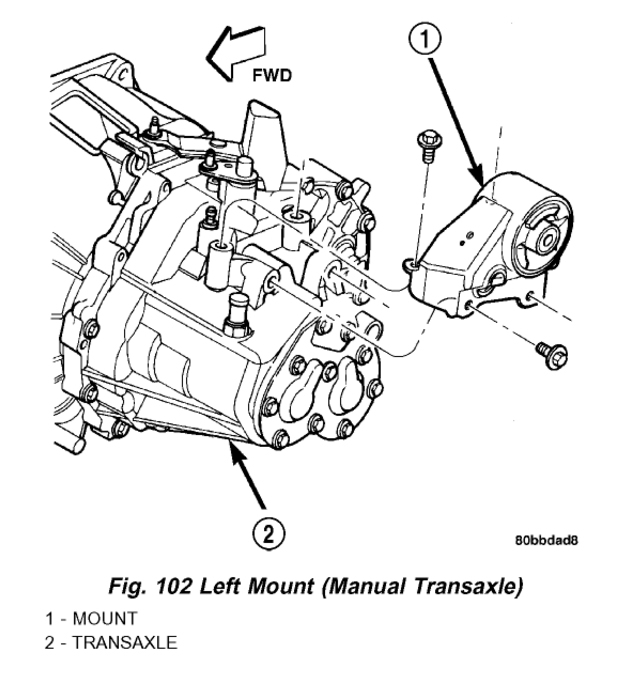 Original on Dodge Neon Engine Mount Diagram