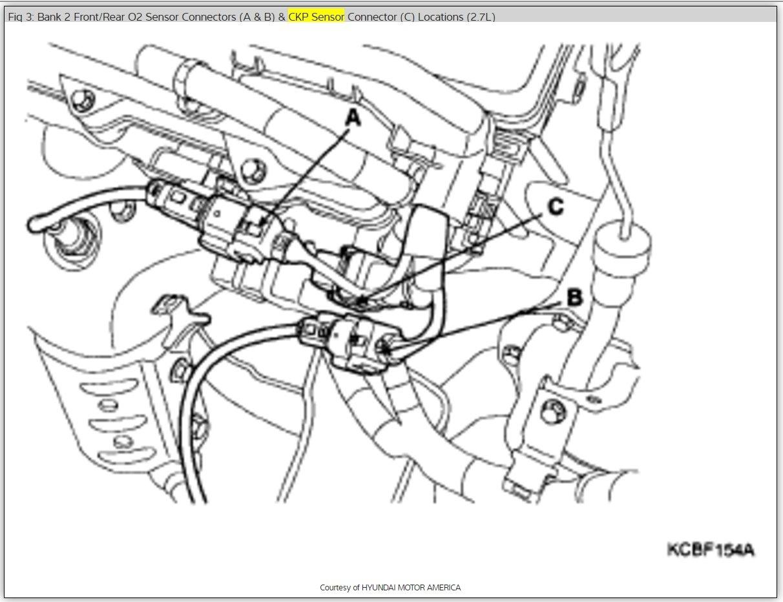 2002 Hyundai Santa Fe Crankshaft Sensor: Electrical