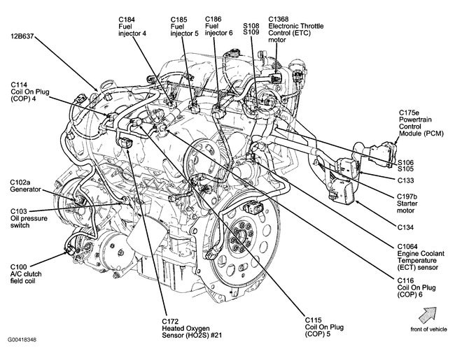 2012 Ford Fusion Engine Diagram