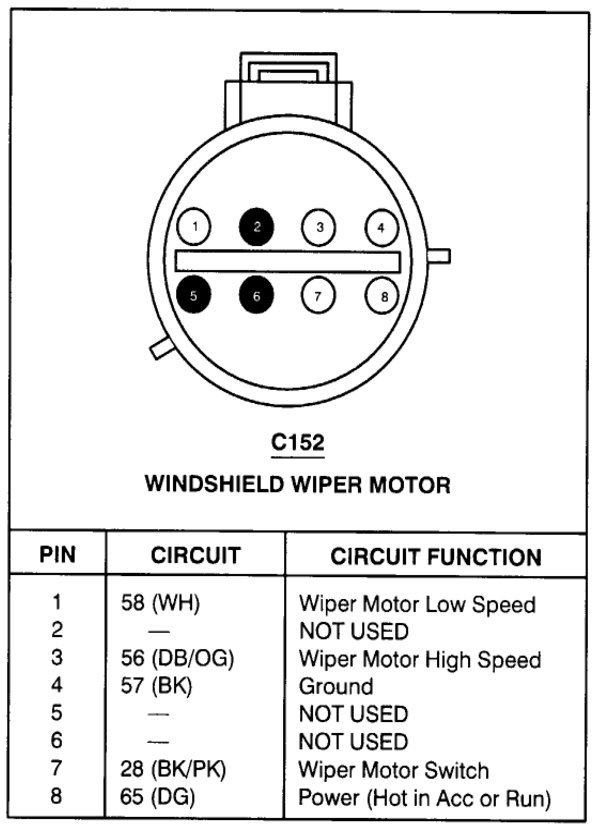 wiring diagram for 1999 lincoln town car 1999 lincoln town car wipers and wiper motor not working  1999 lincoln town car wipers and wiper