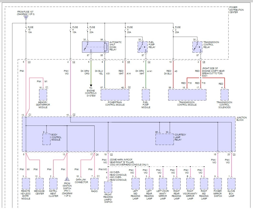 original fuse box diagram electrical problem 6 cyl two wheel drive 2003 dodge caravan fuse box layout at aneh.co