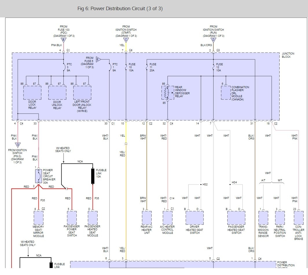 Fuse Box Diagram Electrical Problem 6 Cyl Two Wheel Drive 2009 Dodge Grand Caravan Engine Thumb
