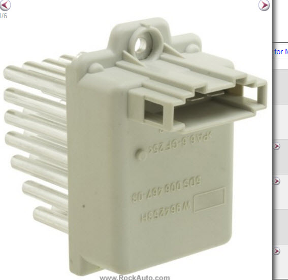 part  64111499122 blower motor resistor location mystery