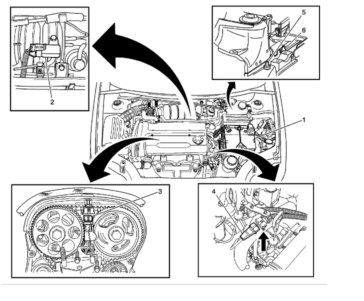 Chevy 5 3 Engine Diagram Knock Sensors also Finding Location Of Crank Shaft Position Sensor On 2009 Chevy Aveo furthermore 2002 Chevy Tahoe Front Suspension Diagram likewise Toyota 2 Timing Marks Diagram also Chevy 3 1l Engine Diagram. on 2009 chevy aveo crankshaft sensor location