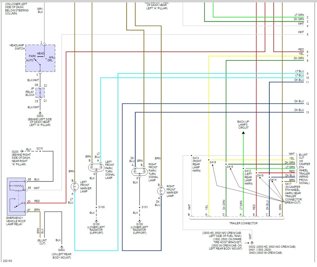 Back Light Wire Diagram Another Blog About Wiring York Diagrams Furnace N2ahd2oao6c 1994 Z71 Rear Tail 39