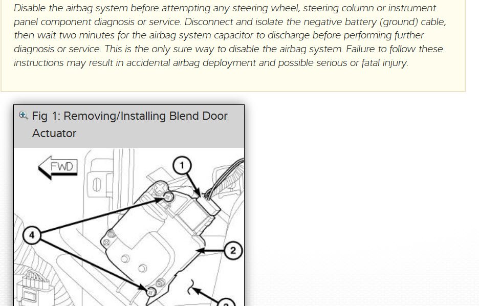 Blend Door Actuator Replacement: I Have a Clicking Noise in the