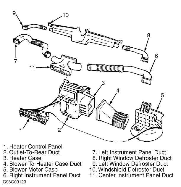 Geo Tracker Heater Box Diagram