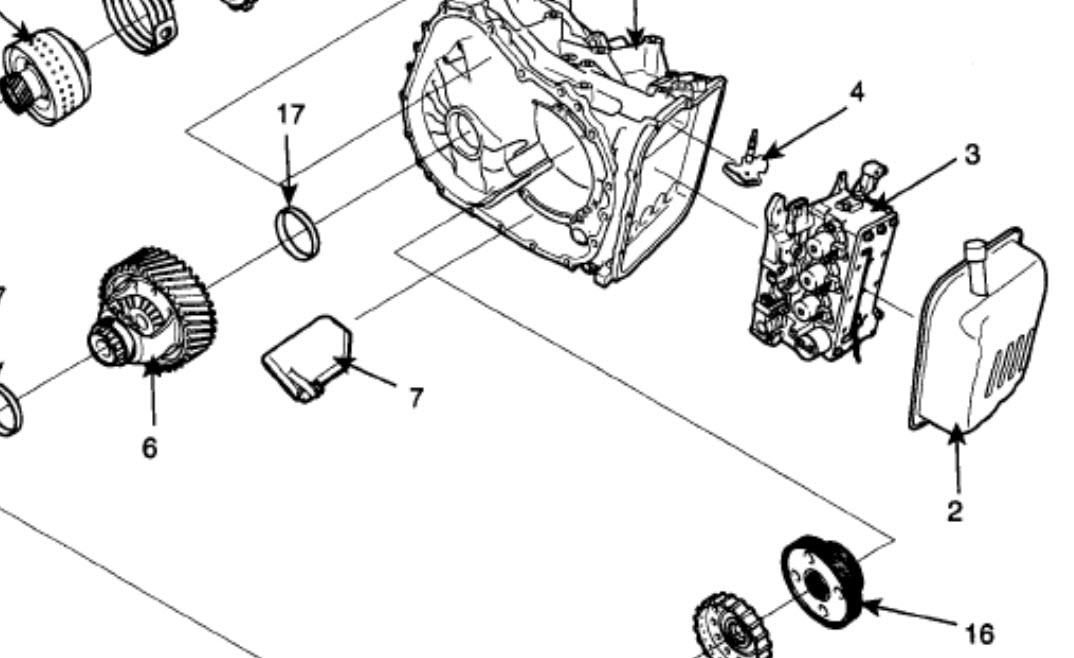 Transmission Filter Location Is There One And Where It Located 2006 Kia Rio Rear Brake Diagram Diagrams