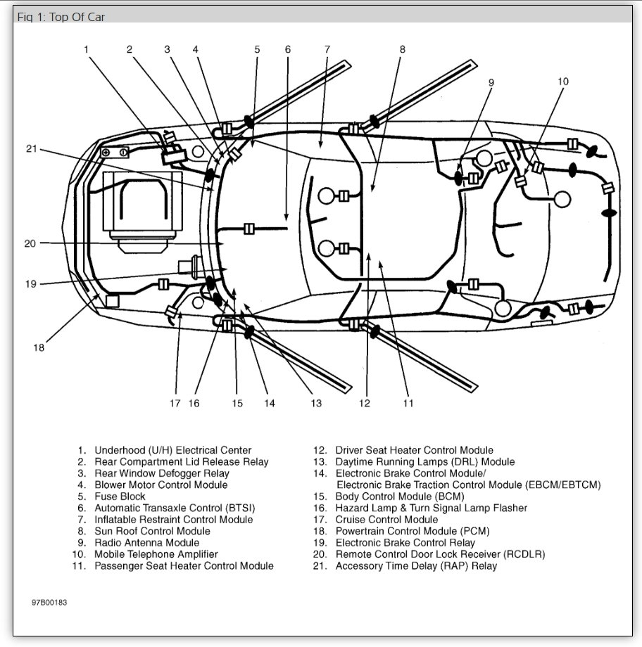 1997 Buick Regal Wherw Isa Body Control Module Located on wiring diagram for 2000 buick lesabre
