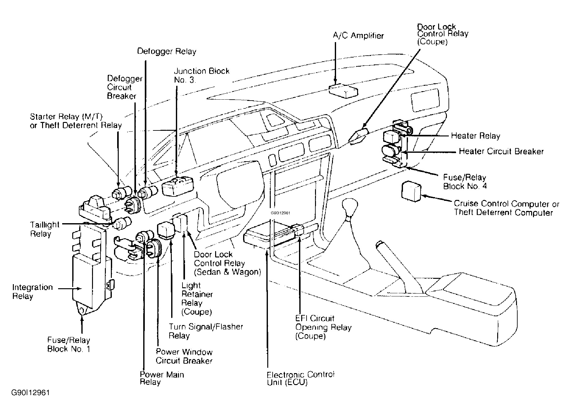 1993 toyota corolla air conditioning wiring diagram