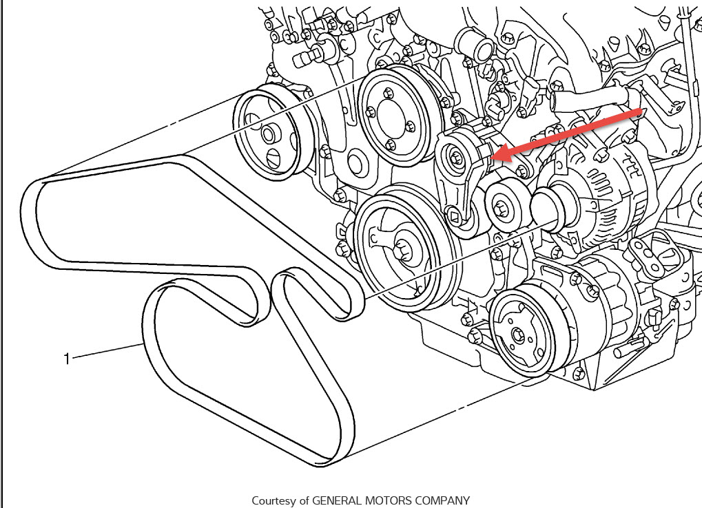 install 2006 chevy equinox belt routing diagram