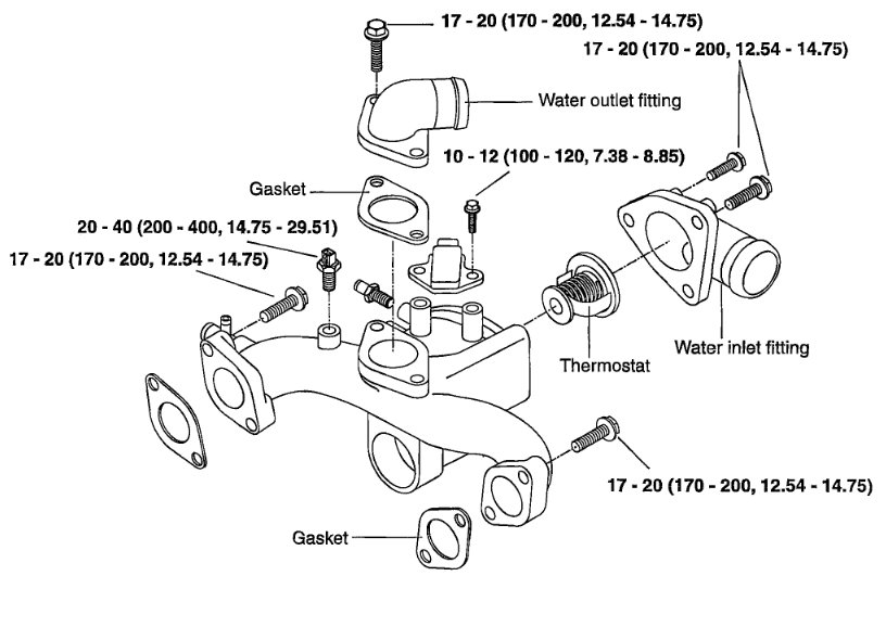 service manual  change thermostat in a 2002 kia spectra