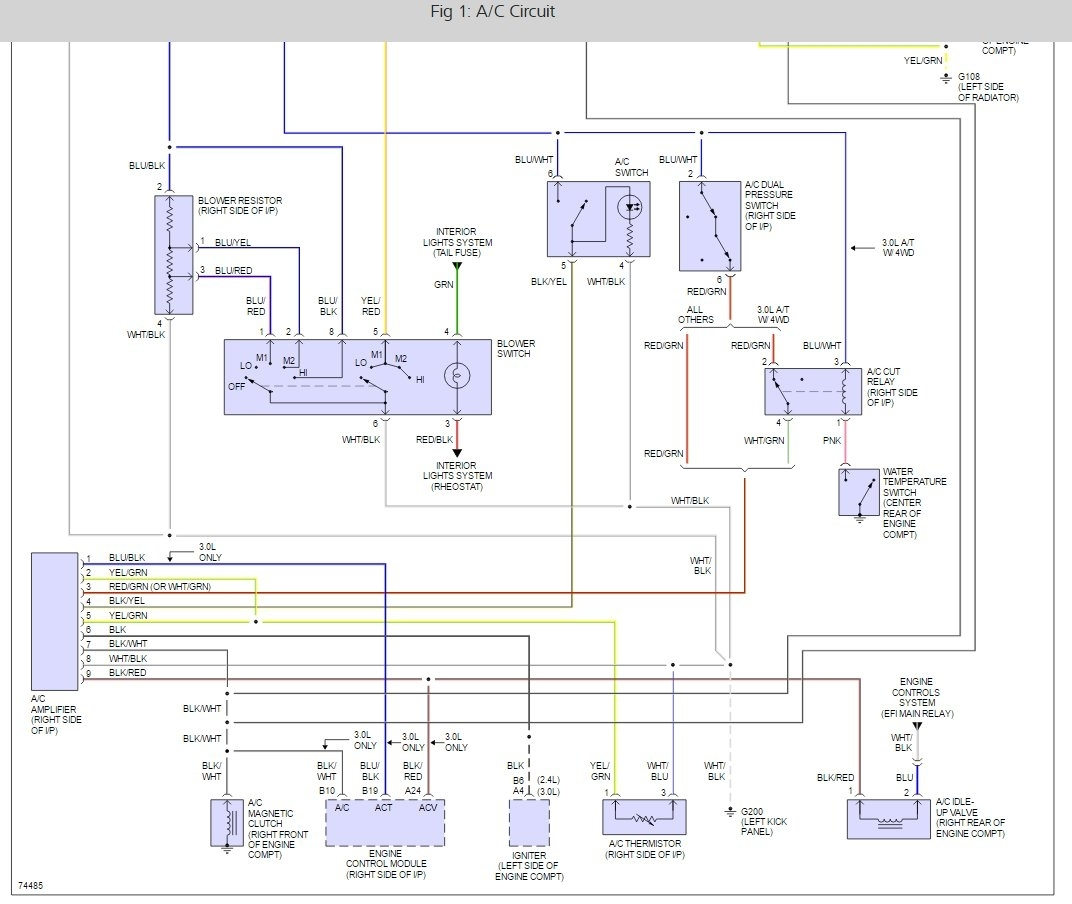 toyota 4runner a/c relay location: i need to locate the a ... wire diagram 2010 toyota 4runner #5