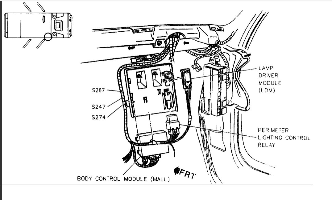 1997 Pontiac Bonneville Theft Deterant Module Located on 1993 Cadillac Deville