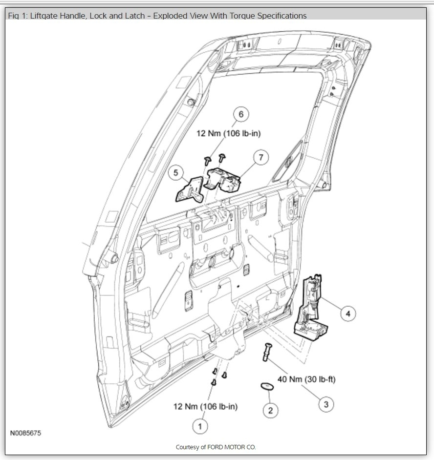 Lift Gate Will Not Open The Rear Liftgate By Its 2001 Ford Escape End Diagram Thumb