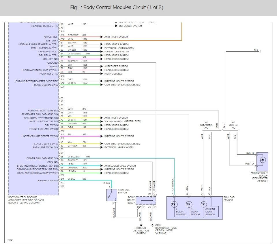 Body Control Module   Electrical Problem V8 Four Wheel