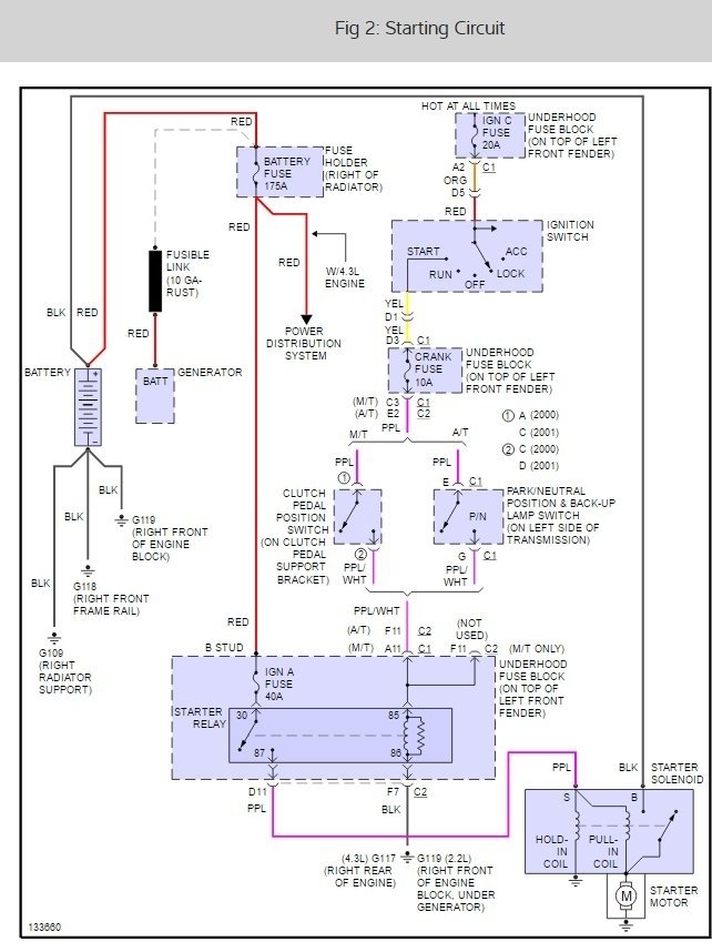 Starter Wiring Diagram  Electrical Problem 4 Cyl Two Wheel