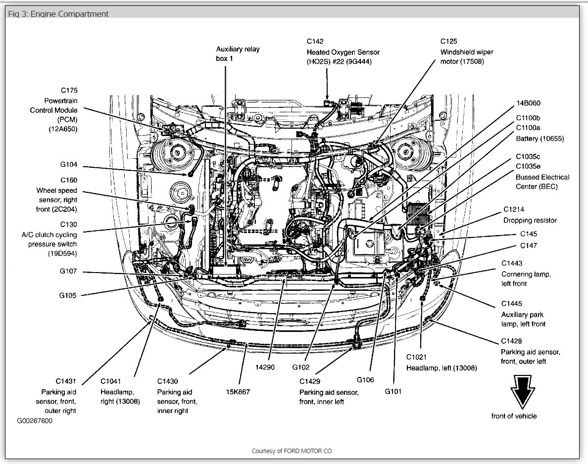 Ford F150 Wiring Harness Diagram additionally 2000 Mazda Miata Timing Diagram additionally 2006 Infiniti Fx35 Fuse Diagram Html furthermore 97180 2007 Chrysler 300 Cooling Fan Relay in addition Heater Hose Routing 3 4l 4runner W Rear Heater Asap Please 178656. on ford taurus starter location
