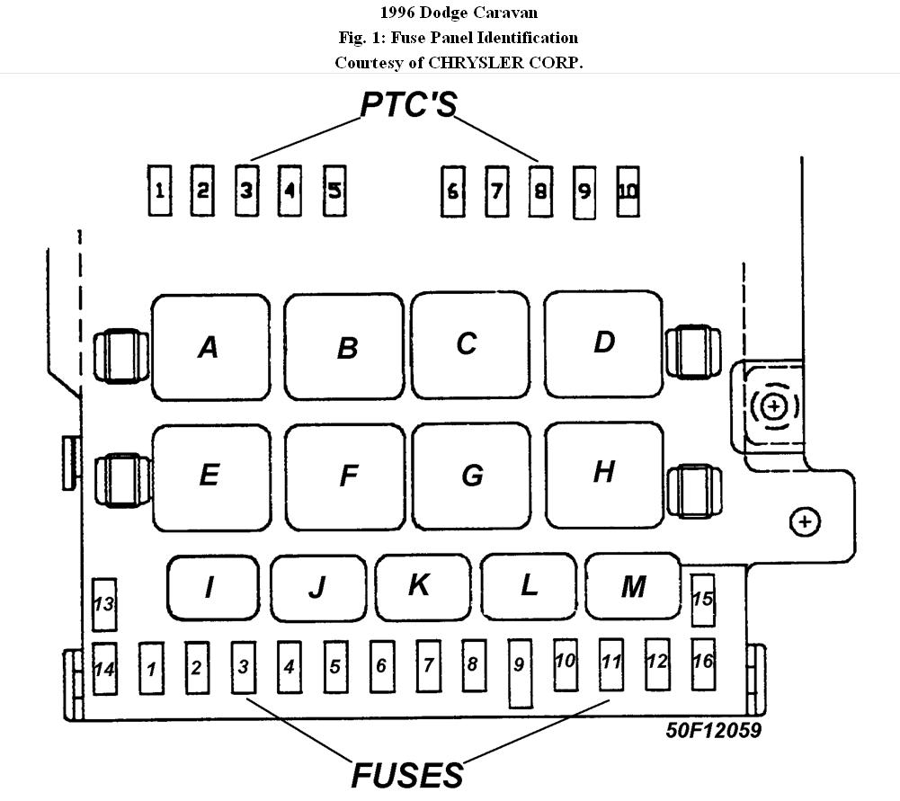 junction box layout trying to find the layout of the relay rh 2carpros com 1999 dodge caravan wiring diagram 99 dodge caravan fuse box diagram