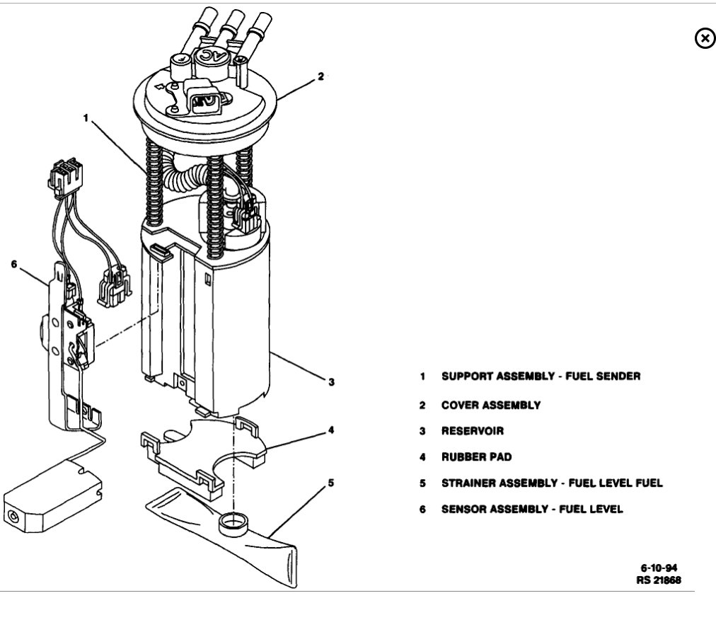 car fuel pump diagram
